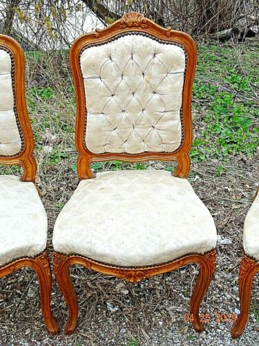 French Country provincial Wood carved ornate Chair six available