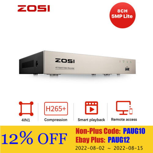 ZOSI 8CH HD 1080P HDMI DVR Video Recorder for CCTV Security Camera System Home
