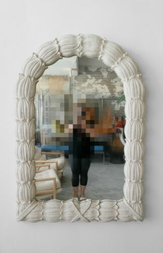 Huge Molded Concrete Sand Stone Wall Mirror