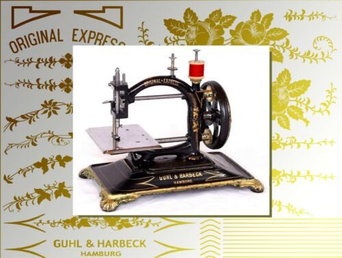 Restoration decals for antique sewing machine - machine a coudre