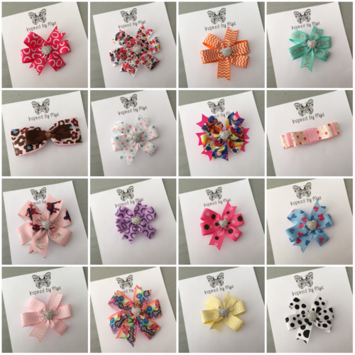 Girls Bow Hair Clip Silver Glitter Bow Bling School Dance Party Accessory