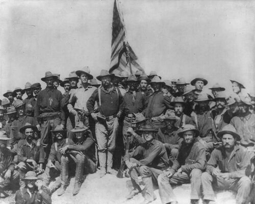 ROOSEVELT'S ROUGH RIDERS 8X10 PHOTO PICTURE US USA ARMY CALVARY SAN JUAN HILL