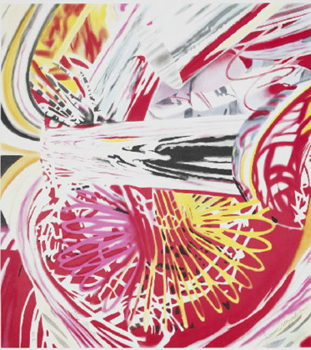 "JAMES ROSENQUIST ""FIRE FOUNTAIN"" LITHOGRAPH"