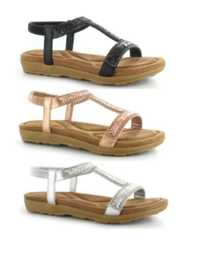 LADIES WOMENS LOW WEDGE DIAMANTE SLING BACK COMFORT SUMMER SANDALS SHOES SIZE