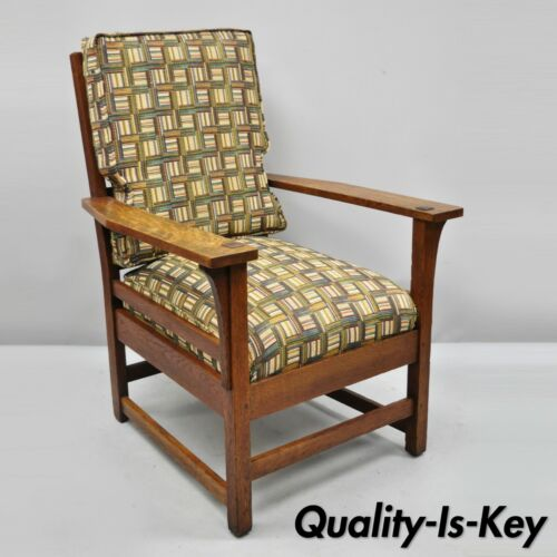 L & JG Stickley Mission Oak Arts & Crafts Lounge Arm Chair Spring Seat Cushion