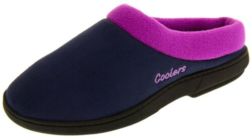 Ladies Womens COOLERS Microsuede Cushioned Mule Slippers Sizes UK 3-4, 5-6, 7-8