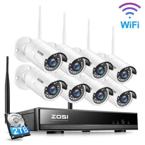 ZOSI 8CH 1080P Wireless CCTV Security Camera System Home IP WIFI NVR Outdoor 1TB