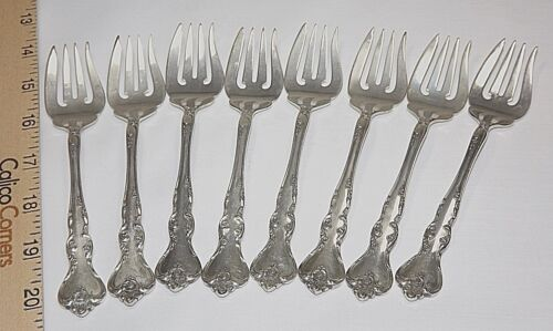 "Reed & Barton Solid Sterling Silver Salad Forks ""Savannah"" Pattern, 1962 to 2005"
