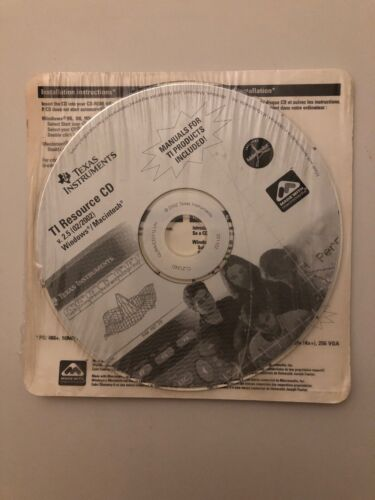 Texas Instruments TI Resource CD, Apps, OS Update & Drivers for Calculators V2.5