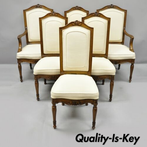 6 Italian Regency French Louis XVI Style Dining Room Chairs by John Widdicomb