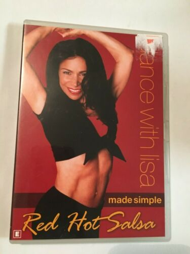 DANCE WITH LISA - MADE SIMPLE - RED HOT SALSA - DVD - R4 - VGC - FREE POST