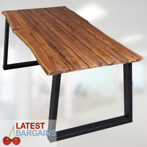 Wooden Dining Table Kitchen Furniture Timber Industrial Style