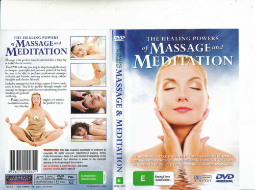 THE HEALING POWERS OF MASSAGE AND MEDITATION – DVD- REGION-ALL- NEW- FREE POST