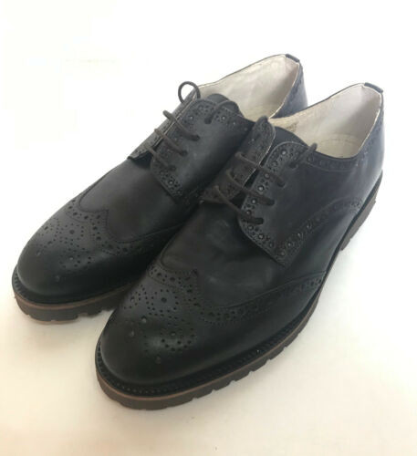 Schuh Mens Leather Brown Leather Brogues Lace Up Casual Formal Shoes New Size 11