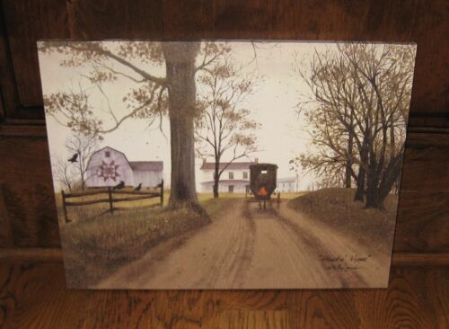 Amish Buggy Home CANVAS PICTURE*Primitive/French Country Farmhouse Barn Decor