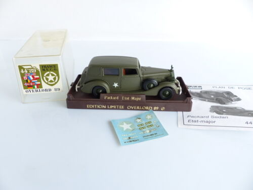 SOLIDO FRANCE VOITURE MILITAIRE PACKARD ETAT MAJOR OVERLOD 89 1/43 eme