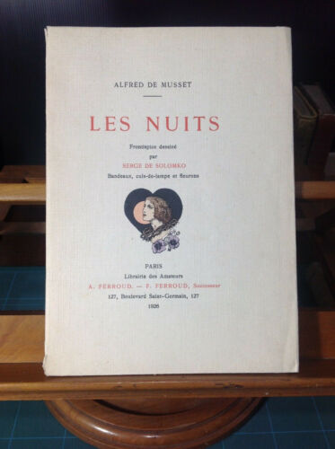 Libro Poesia Les Nuits Alfred de Musset 1926