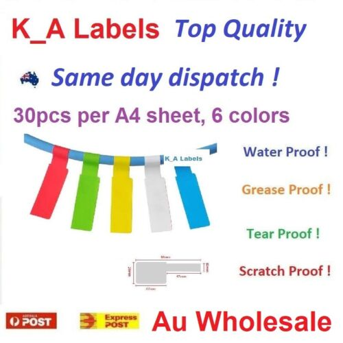 Color Network Fiber Cable Label sticker, Self-adhesive, Water Proof, Printable