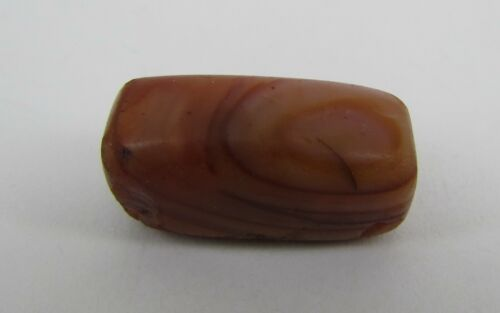 Old carnelian with eye structure beads from Pakistan.