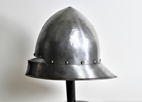 APHRODITE- ANTIQUE WROUGHT STEEL GERMAN FORM HELMET