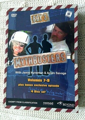 MYTHBUSTERS  - VOLUMES 7-9 – DVD, 4-DISC BOX SET- R-4- LIKE NEW- FREE SHIPPING