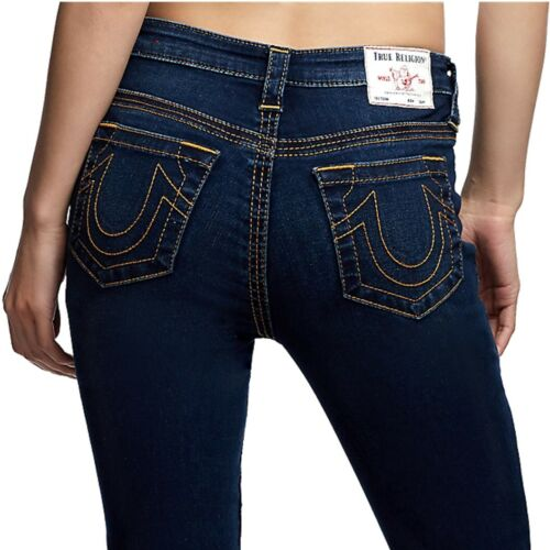True Religion Women's Halle High Rise Contour Skinny Fit Stretch Jeans