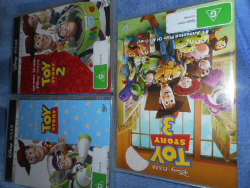 Toy Story 1-2-3 dvds,brand new sealed