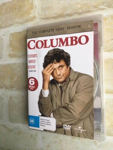 COLUMBO - THE COMPLETE FIRST SEASON - PETER FALK - REGION 4 PAL - 6 DISC DVD SET