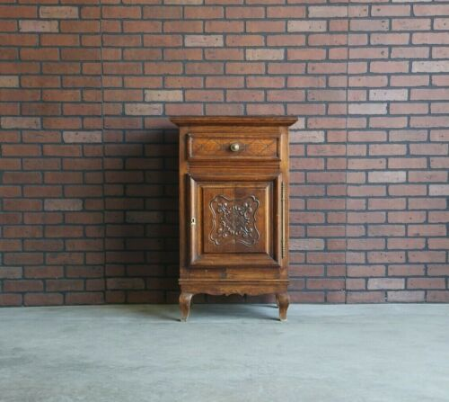 Antique French Cabinet ~ Linen Cabinet ~ Louis XV Style Carved Oak Cabinet