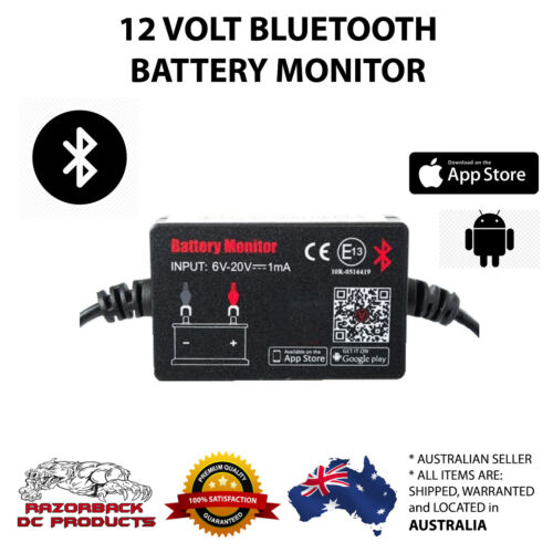 12V Car Battery Monitor via Bluetooth 4.0 Voltage Meter Tester w/ auto Alarm BM2