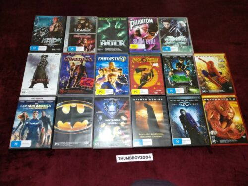 DC Marvel Superhero DVD Movies! R4 AUS Choose: Batman, The Phantom, Flash Gordon