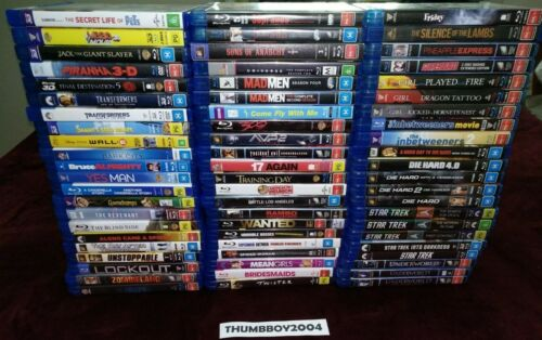 AUS Reg B. BLU RAYS: 3D MOVIES, TV SERIES, ACTION, COMEDY, ANIMATION ++ *CHOOSE*