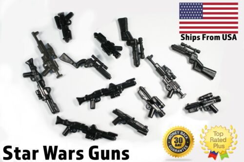 LEGO Star Wars Guns Clone Storm Trooper Blasters Lot x10 Randomized Weapons <br/> Assortment of 10 Realistic LEGO Star War Weapons (Toys)