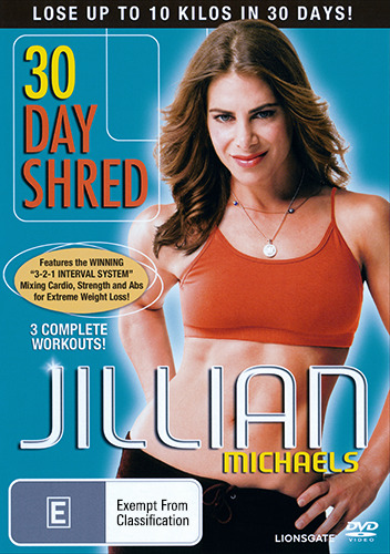 JILLIAN MICHAELS - 30 DAY SHRED WEIGHT LOSS WORKOUT REGION 4 DVD (NEW & SEALED)
