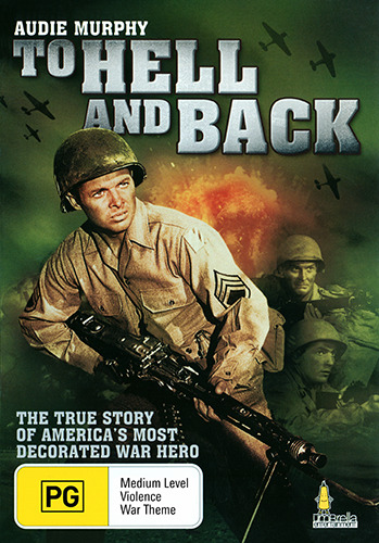 Audie Murphy TO HELL AND BACK - TRUE STORY WAR HERO DVD (NEW & SEALED)