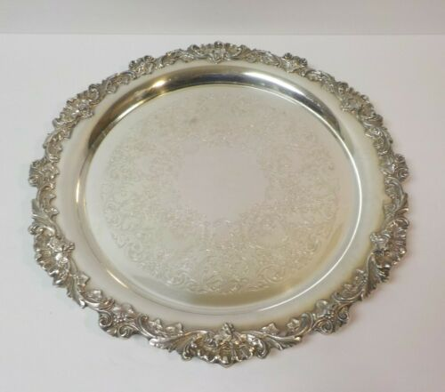 "Mid-Century Wilcox - International Silver Plate 16"" Platter / Tray"