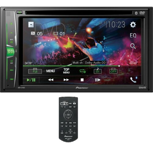 """NEW Pioneer 2 Din AVH-211EX DVD/MP3/CD Player 6.2"""" Touchscreen Bluetooth Remote <br/> iPod iPhone Control , Android Music - 1 YEAR WARRANTY"""