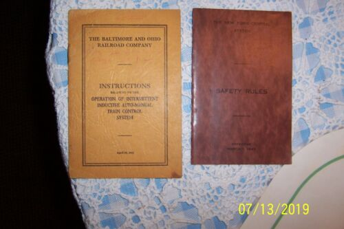 1941 The Baltimore & Ohio & 1943 New York Centrail System RAILROADS Booklets