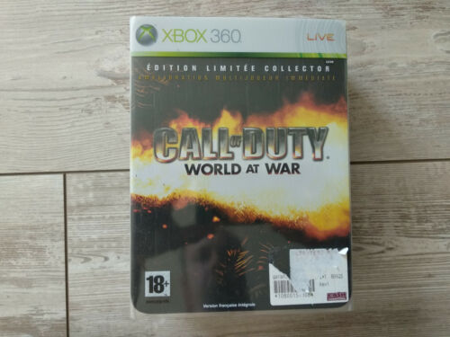 Coffret Collector limitée Call of Duty World at war COD Xbox 360 FR