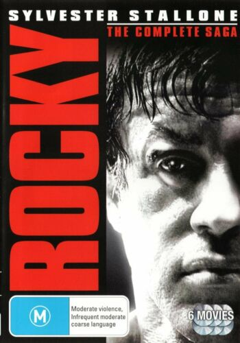 "ROCKY THE COMPLETE SAGA  ALL 6 FILMS 6 DISCS DVD BOX SET R4 ""NEW&SEALED"""