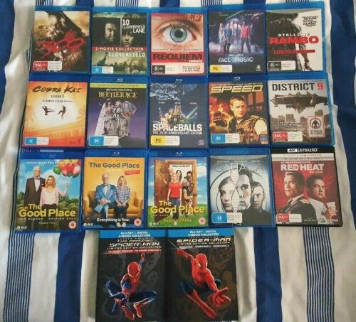 Blu-Ray Movie Collection Mostly Like New - Choose From Dropdown Within Listing