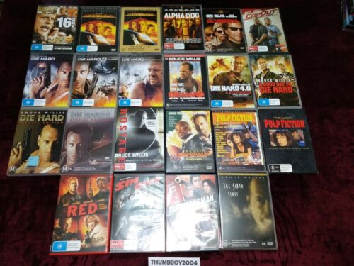 Bruce Willis DVD BULK MOVIE Collection Choose film titles from Drop-down