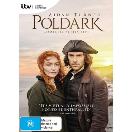 BRAND NEW Poldark : Series 5 (DVD, 2019, 3-Disc Set) *PREORDER R4 Aidan Turner