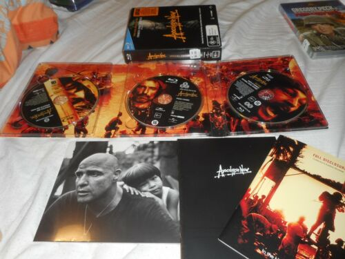 APOCALYPSE NOW 3 DISC BLURAY COLECTORS EDTION DVD BOXED SET,LIMITED EDITION