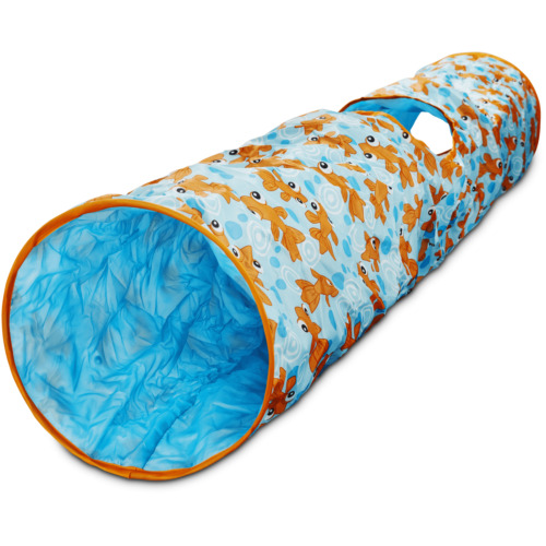 """Leaps & Bounds Peek-a-Boo Pipe Cat Tunnel, 51"""" L X 9.5"""" W"""