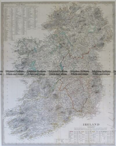 Antique Map 4-175 Ireland by S.D.U.K. c.1944