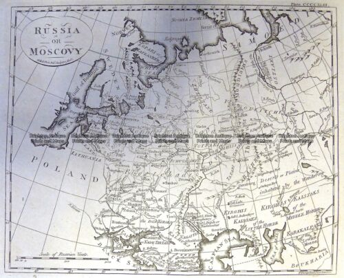 Antique Map 5-246 Russia in Europe by A. Bell c.1775