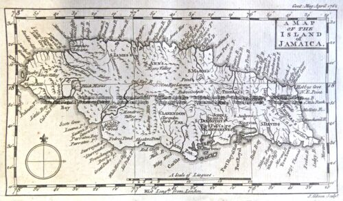 Antique Map 9-816 Jamaica c.1762