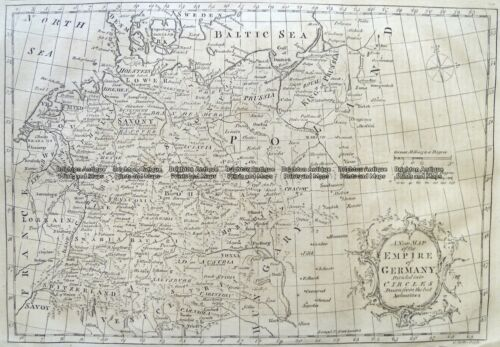 Antique Map 5-220 Germany by Kitchen c.1771