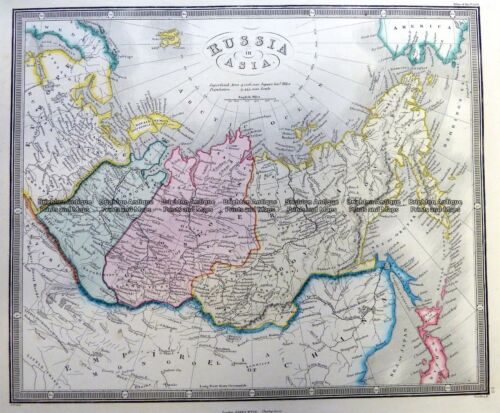 Antique Map 5-256 Russia in Asia by Wyld c.1853